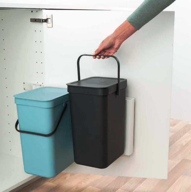 Ведро мусорное Sort&Go Brabantia, объем 16 л, серый Brabantia 109966 фото 5
