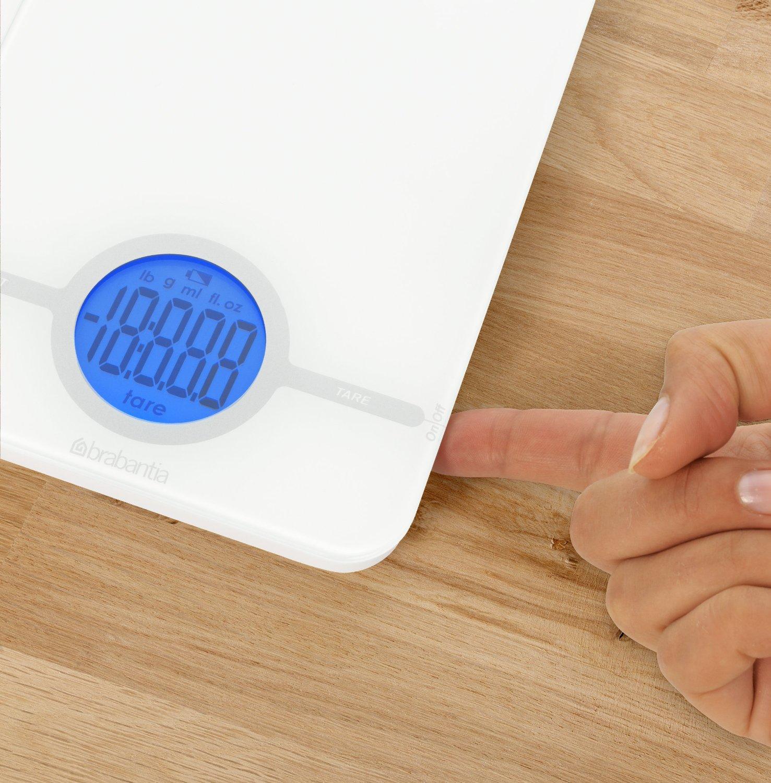 Весы цифровые кухонные Brabantia, 26,6x15,1x18 см, белый Brabantia 480584 фото 3