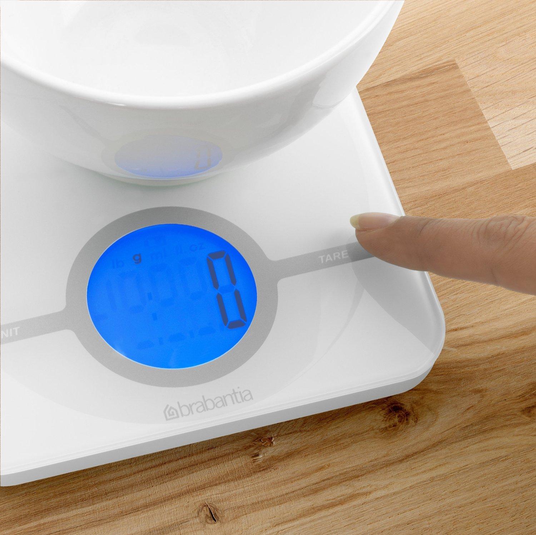 Весы цифровые кухонные Brabantia, 26,6x15,1x18 см, белый Brabantia 480584 фото 2