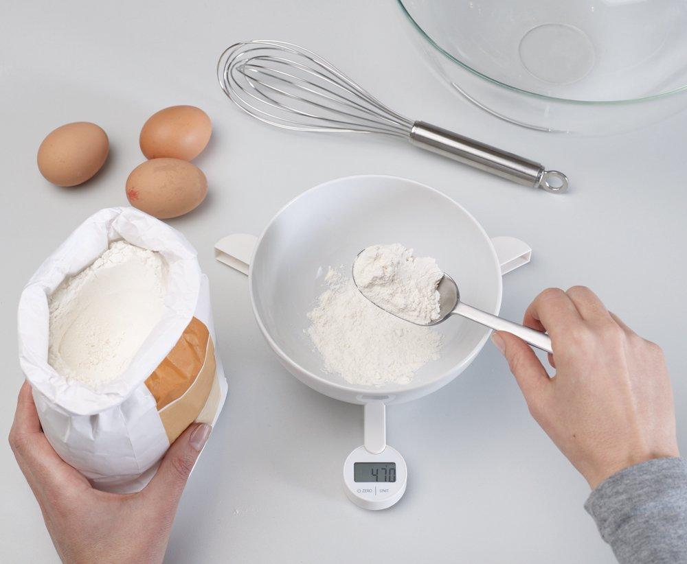 Весы кухонные цифровые складные Joseph Joseph triscale, 21,9х20,2х2,1 см, белый Joseph Joseph 40071 фото 3