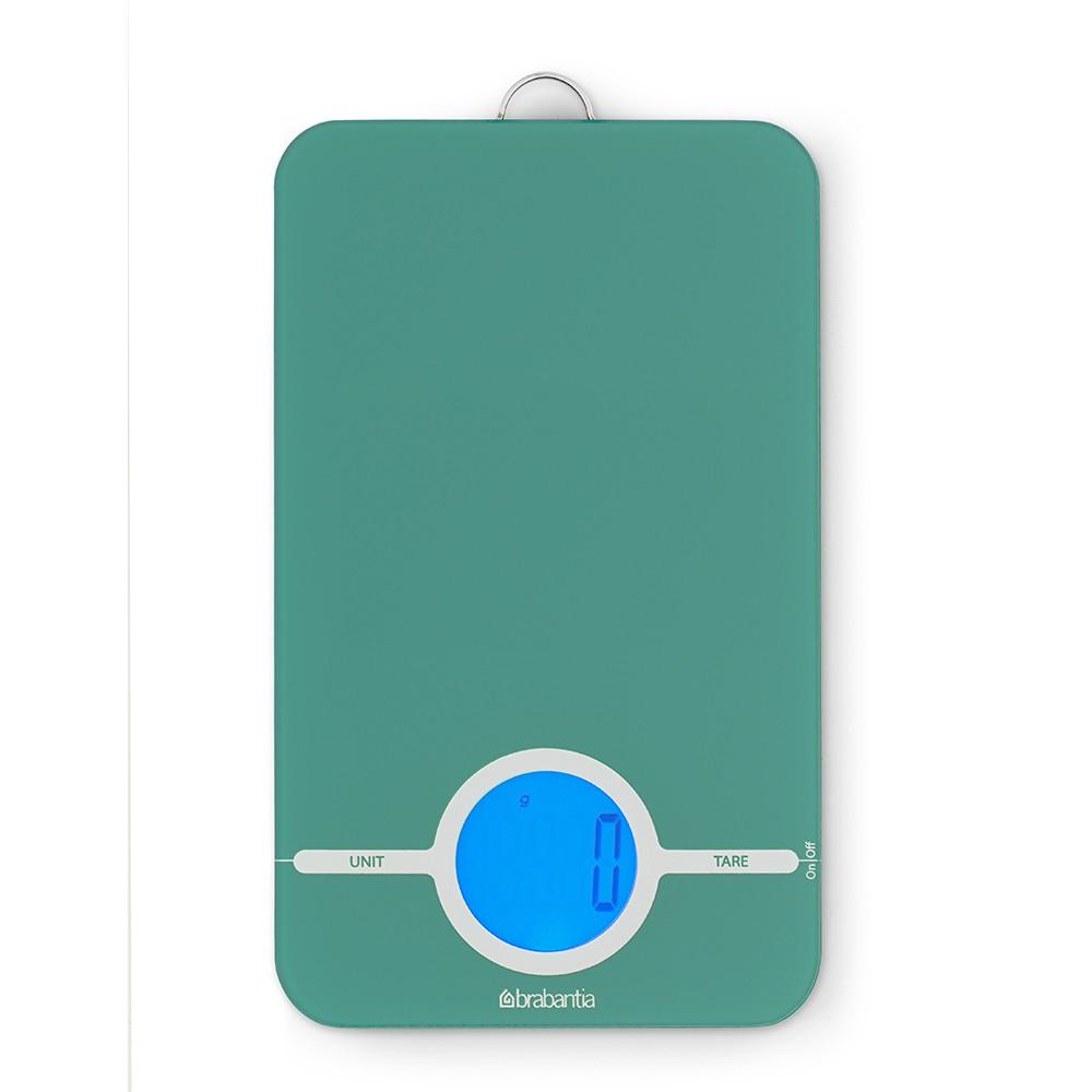 Онлайн каталог PROMENU: Весы цифровые кухонные Brabantia, 26,6x15,1x18 см, зеленый Brabantia 480720