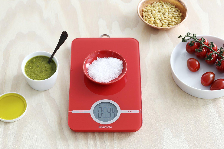 Весы цифровые кухонные Brabantia, 26,6x15,1x18 см, красный Brabantia 480744 фото 2