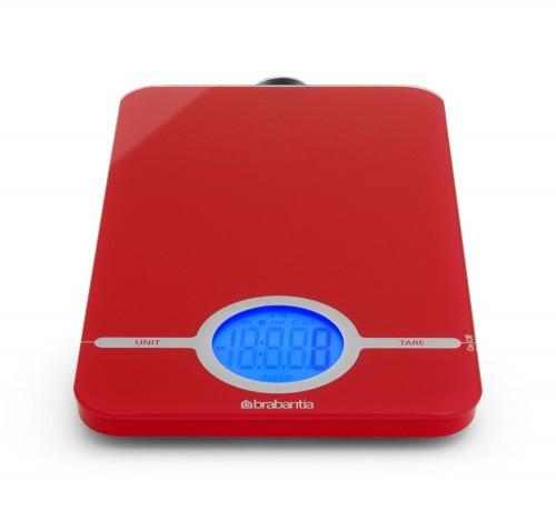 Онлайн каталог PROMENU: Весы цифровые кухонные Brabantia, 26,6x15,1x18 см, красный Brabantia 480744
