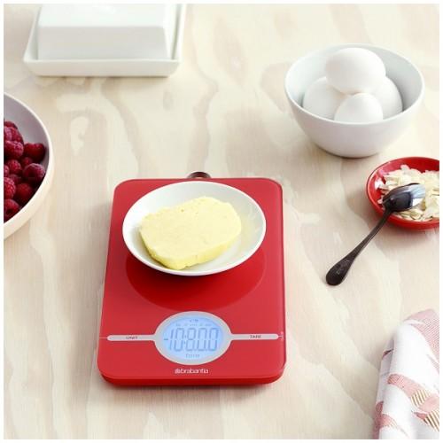 Весы цифровые кухонные Brabantia, 26,6x15,1x18 см, красный Brabantia 480744 фото 4