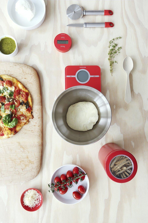 Весы цифровые кухонные Brabantia, 26,6x15,1x18 см, красный Brabantia 480744 фото 3