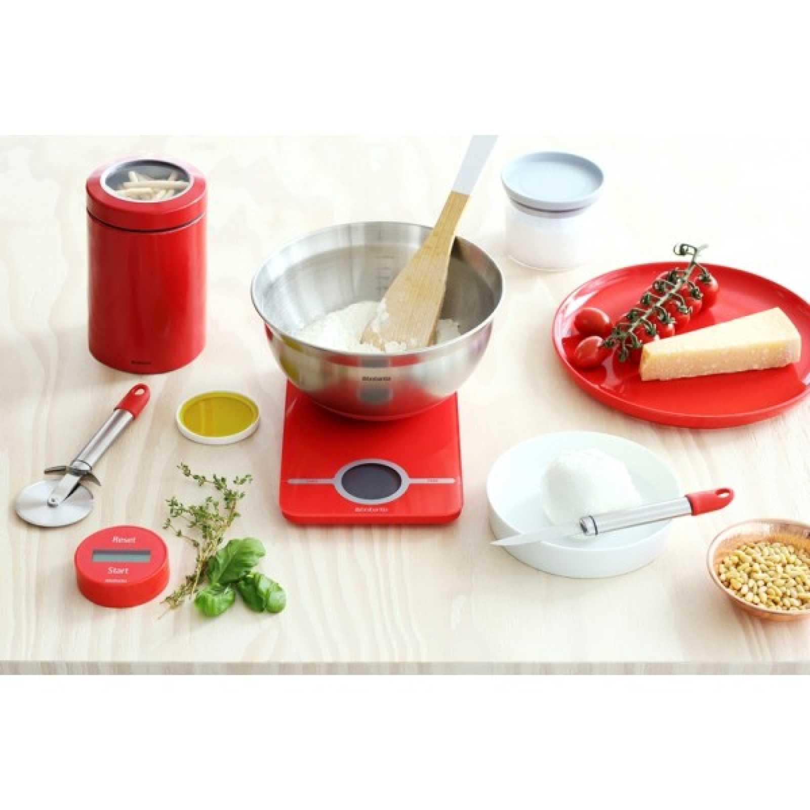 Весы цифровые кухонные Brabantia, 26,6x15,1x18 см, красный Brabantia 480744 фото 5