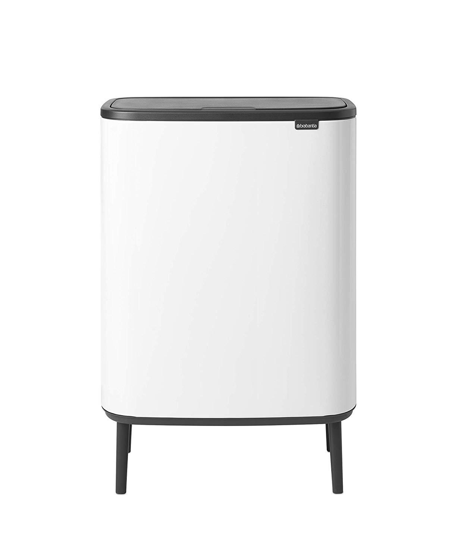 Онлайн каталог PROMENU: Бак для мусора c 2 ведрами (объем 2х30 л) Brabantia Bo Touch Bin Hi, белый Brabantia 130601