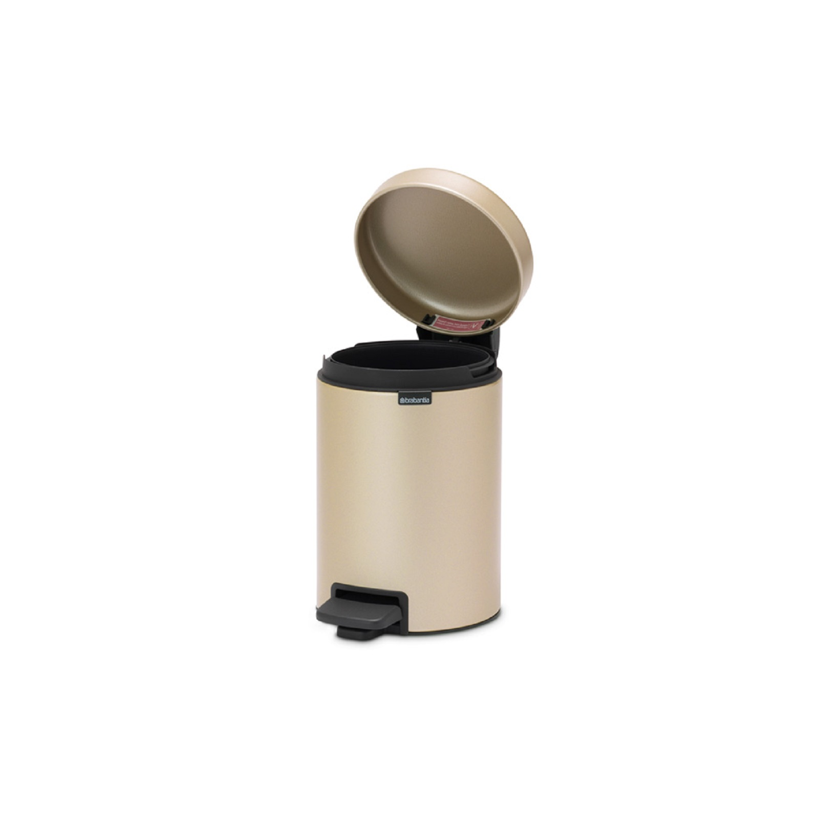 Бак для мусора Pedal Bin NewIcon Brabantia, объем 3 л, шампань бежевый Brabantia 304408 фото 4