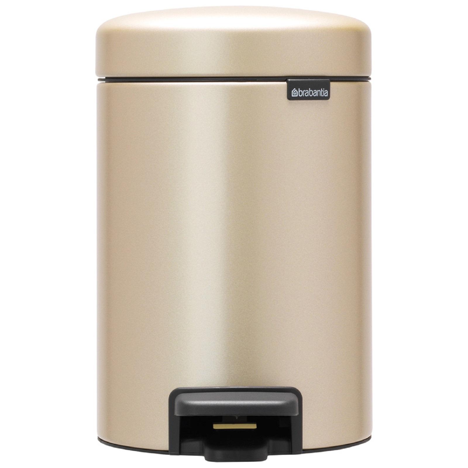 Онлайн каталог PROMENU: Бак для мусора Pedal Bin NewIcon Brabantia, объем 3 л, шампань бежевый Brabantia 304408