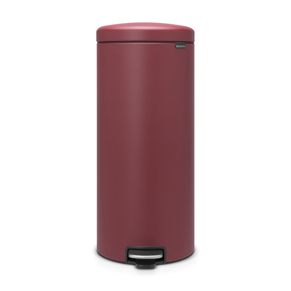 Онлайн каталог PROMENU: Бак для мусора Pedal Bin Brabantia newIcon, объем 30 л, бордовый Brabantia 115981