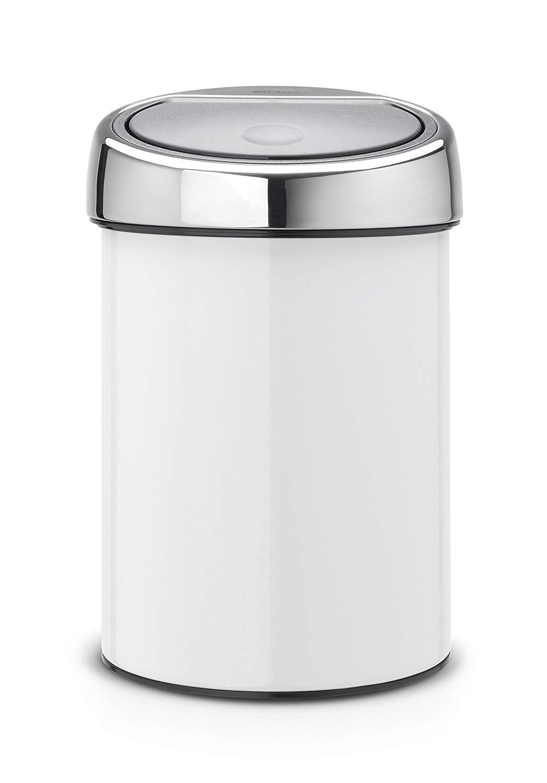 Онлайн каталог PROMENU: Бак для сміття Brabantia Touch Bin, об'єм 3 л, 28х18,4 см, білий Brabantia 364488