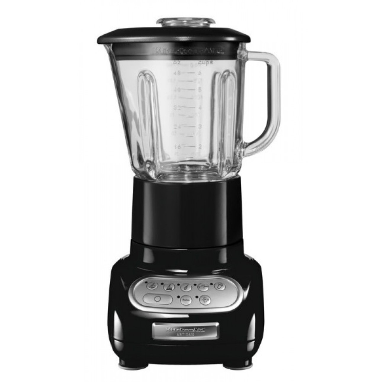 Онлайн каталог PROMENU: Блендер стационарный с кулинарным стаканом KitchenAid Artisan, объем чаши 1,5 л, черный                                                  KitchenAid 5KSB5553EOB