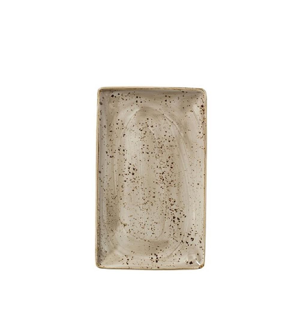Онлайн каталог PROMENU: Тарелка прямоугольная фарфоровая Steelite CRAFT PORCINI, 16,8х27 см, бежевый                               11290550