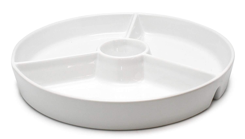 Онлайн каталог PROMENU: Блюдо с 3 отделениями Nerthus, фарфор, 19,5х19,5х3,5 см, белый                                   FIH 333