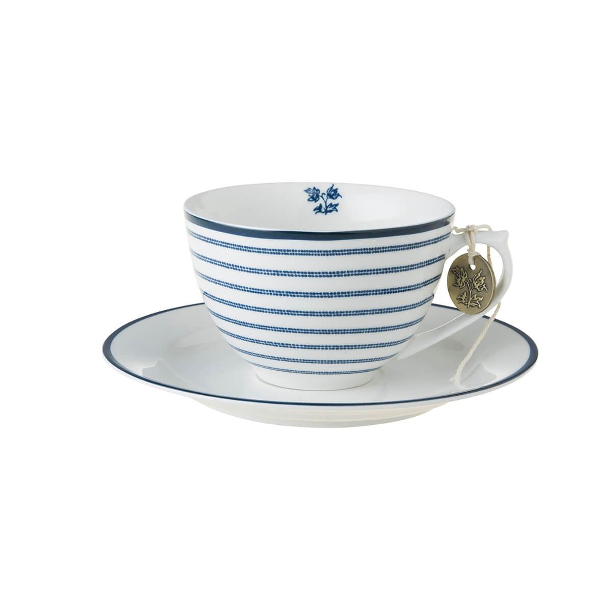 Онлайн каталог PROMENU: Набор: чашка с блюдцем Laura Ashley BLUEPRINT, 2 предмета, белый в синюю полоску Laura Ashley 178677