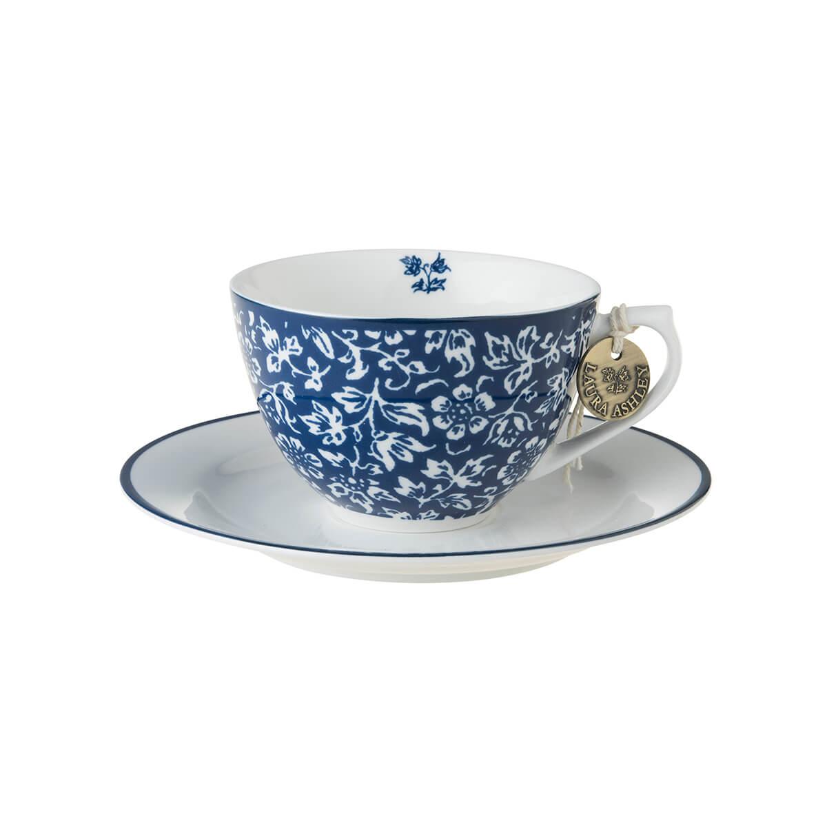 Онлайн каталог PROMENU: Набор: чашка с блюдцем Laura Ashley BLUEPRINT, 2 предмета, синий в мелкий цветок                                   178675
