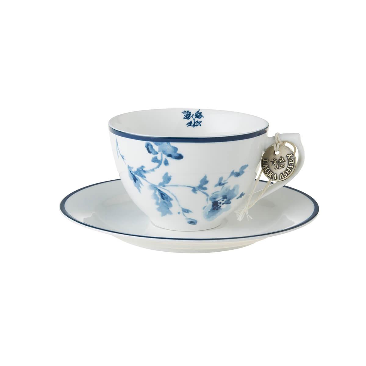 Онлайн каталог PROMENU: Набор: чашка с блюдцем Laura Ashley BLUEPRINT, 2 предмета, белый с синими розами Laura Ashley 178678
