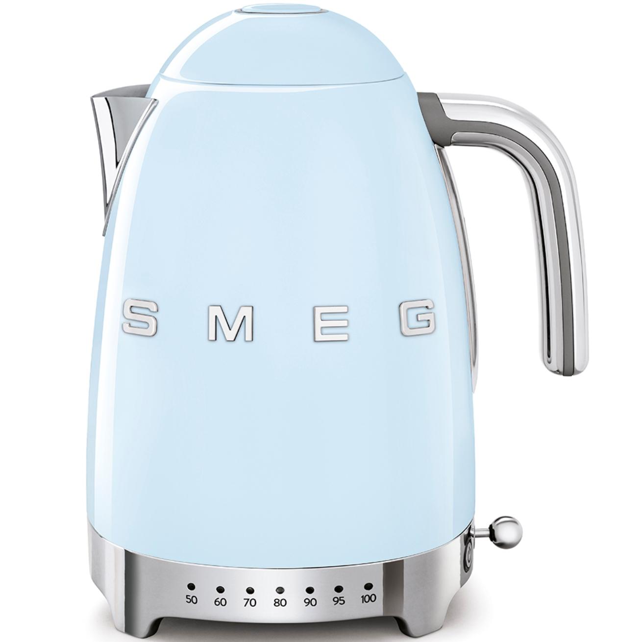 Онлайн каталог PROMENU: Чайник электрический Smeg 50 Style, объем 1,7 л, голубой                               KLF04PBEU