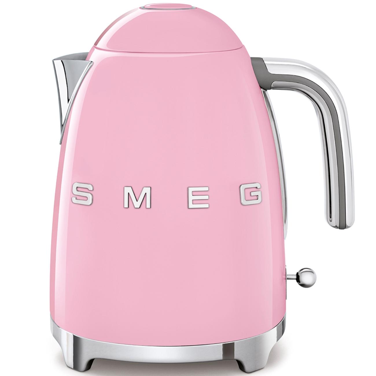 Онлайн каталог PROMENU: Чайник электрический Smeg 50 Style, объем 1,7 л, розовый                               KLF03PKEU