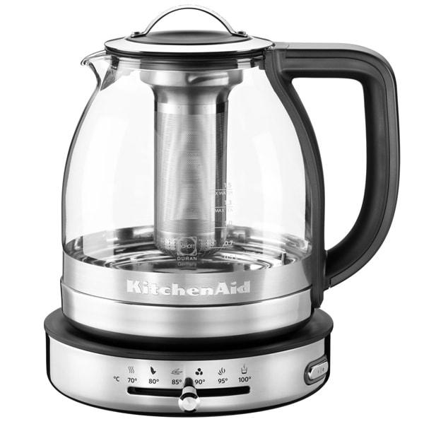 Онлайн каталог PROMENU: Чайник электрический для кипячения и заваривания KitchenAid Atrisan, объем 1,5 л, стеклянный KitchenAid 5KEK1322ESS