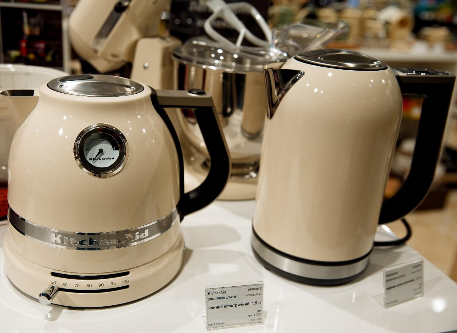 Чайник электрический KitchenAid, объем 1,5 л, кремовый KitchenAid 5KEK1522EAC фото 3