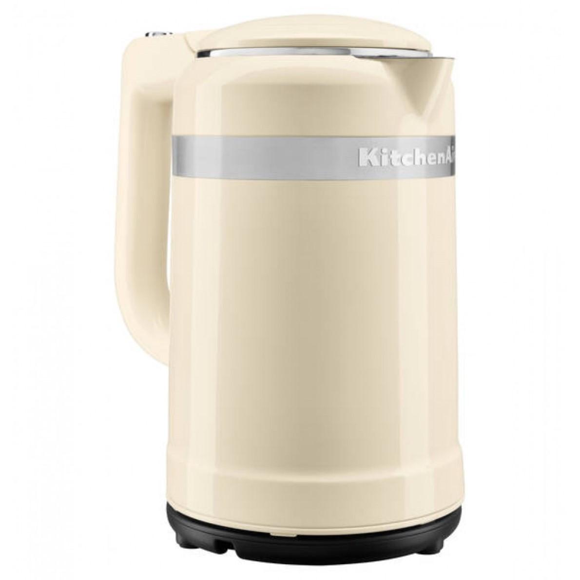 Онлайн каталог PROMENU: Чайник электрический с двойными стенками KitchenAid Design, объем 1,5 л, 2400 Вт, кремовый                               5KEK1565EAC