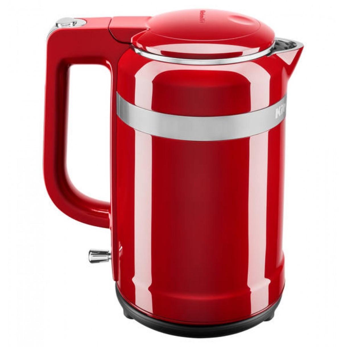 Онлайн каталог PROMENU: Чайник электрический с двойными стенками KitchenAid Design, объем 1,5 л, 2400 Вт, красный                               5KEK1565EER