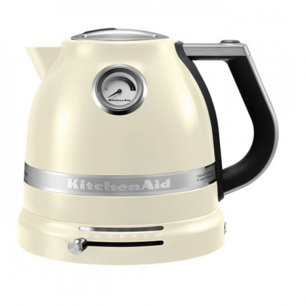 Онлайн каталог PROMENU: Чайник электрический KitchenAid, объем 1,5 л, кремовый KitchenAid 5KEK1522EAC