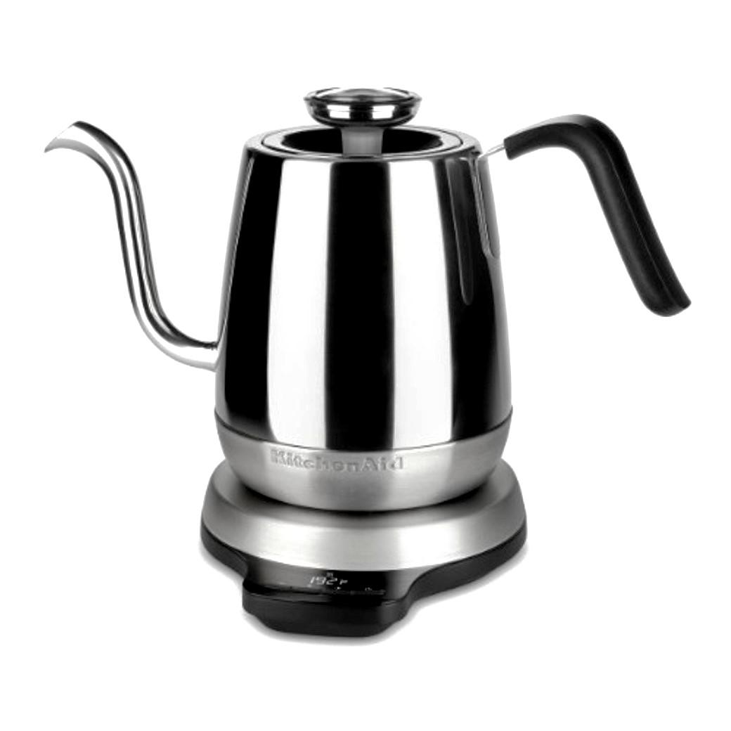 Онлайн каталог PROMENU: Чайник электрический цифровой KitchenAid ARTISAN, объем 1 л, 3 режима, серебристый                               5KEK1032ESS