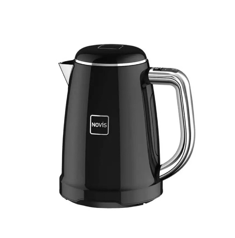 Онлайн каталог PROMENU: Чайник электрический с регулировкой температуры кипения Novis Kettle KTC1, объем 1,7 л, черный                               6114.03.20