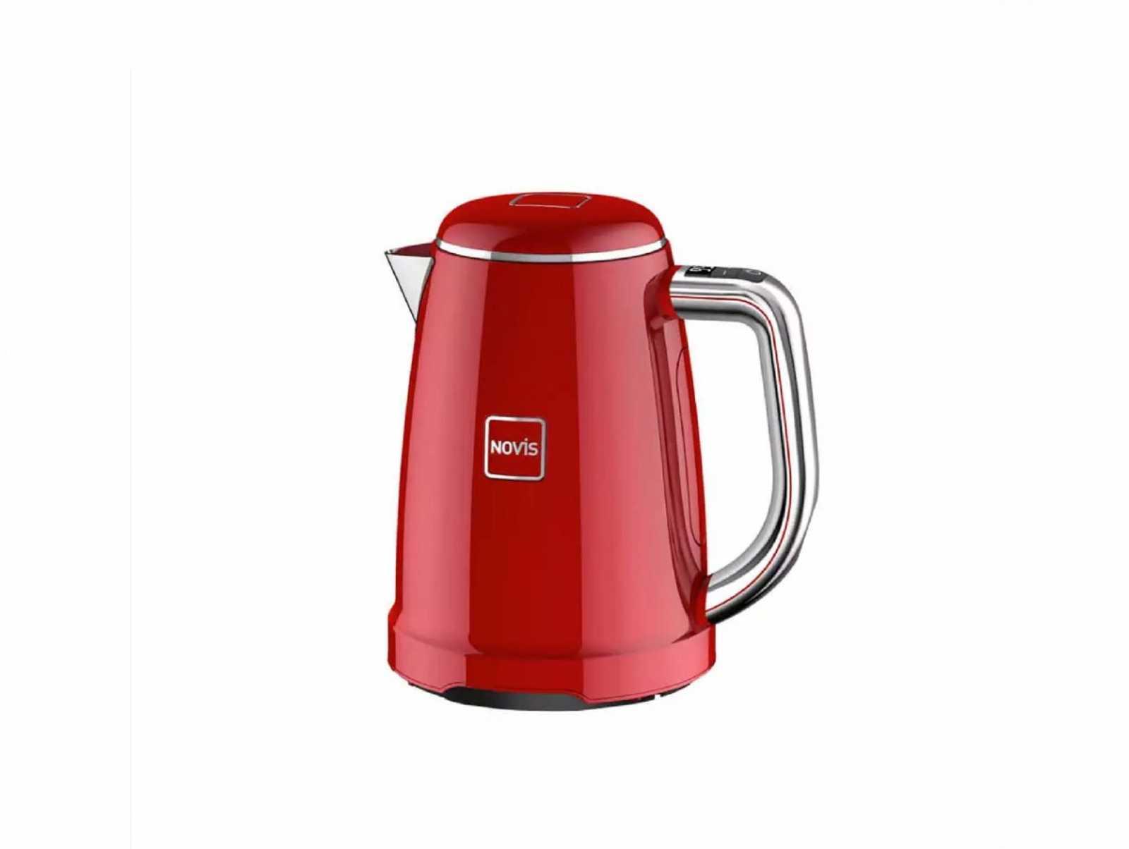 Онлайн каталог PROMENU: Чайник электрический с регулировкой температуры кипения Novis Kettle KTC1, объем 1,7 л, красный                               6114.02.20