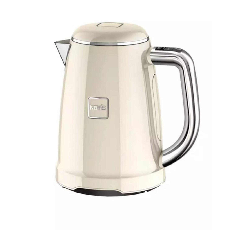 Онлайн каталог PROMENU: Чайник электрический с регулировкой температуры кипения Novis Kettle KTC1, объем 1,7 л, кремовый                               6114.09.20