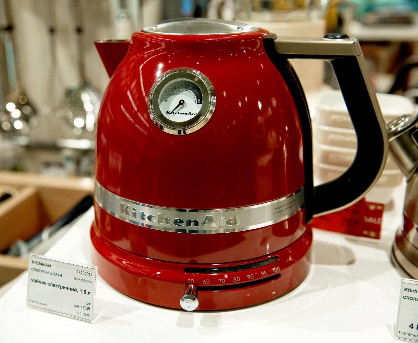 Чайник электрический1,5 л KitchenAid  Красный (5KEK1522EER) KitchenAid 5KEK1522EER фото 5