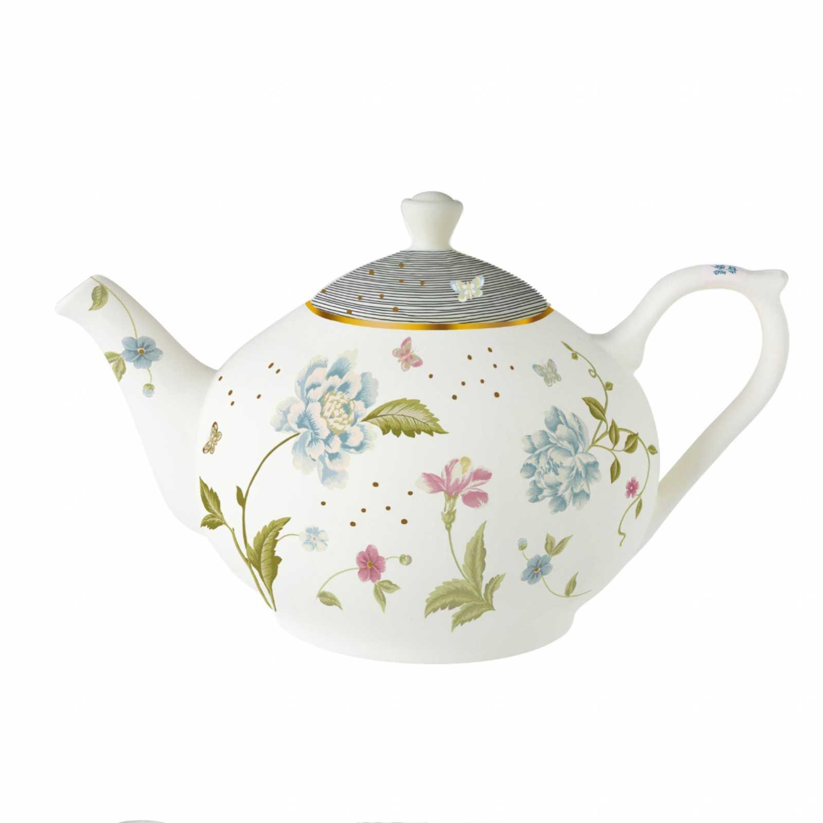 Онлайн каталог PROMENU: Чайник заварочный Laura Ashley HERITAGE, белый с цветами и бабочками                               180968