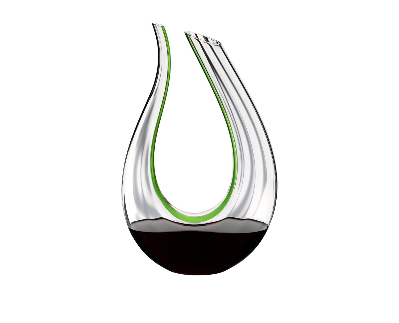 Онлайн каталог PROMENU: Декантер AMADEO GREEN OPTICAL Riedel DECANTER, объем 1,5 л, прозрачный с зеленой полоской                               1756/19