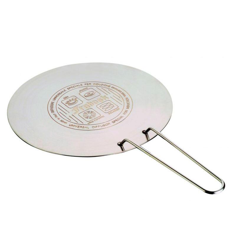 Онлайн каталог PROMENU: Диск индукционный с щипцами Frabosk, диаметр 22 см, серебристый  099.02