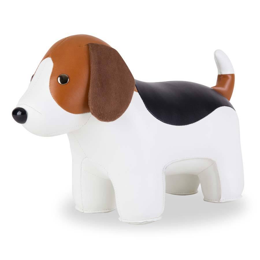 Онлайн каталог PROMENU: Дорстоппер собака гончая Zuny Classic DOORSTOP, бело-коричневая                               ZCDV0153-0110