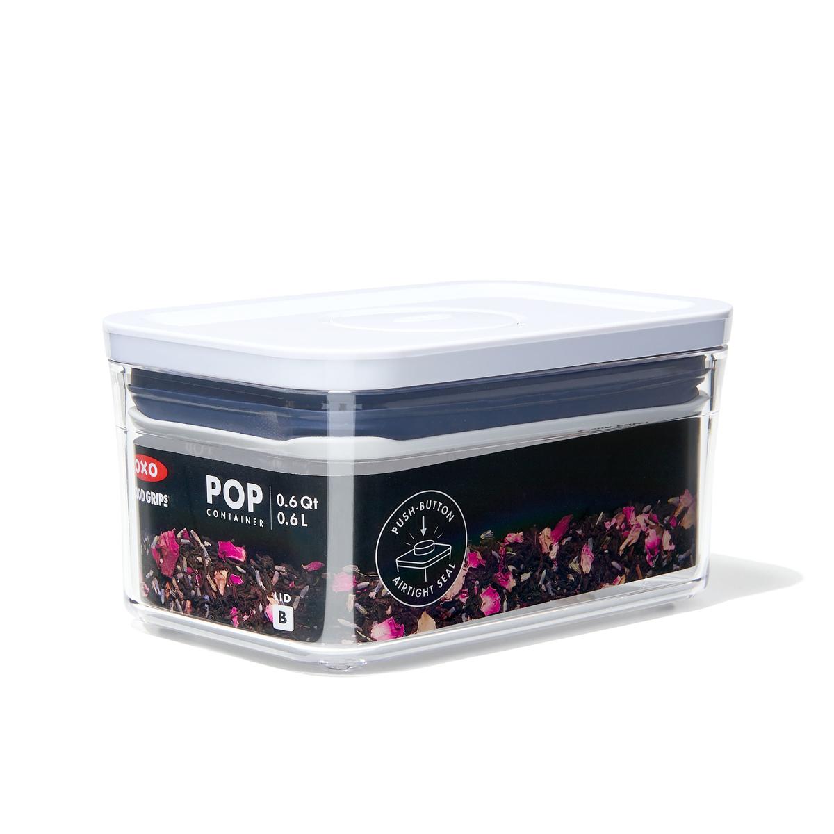 Емкость для хранения с всплывающей кнопкой OXO FOOD STORAGE, 16х10,5х8 см, объем 0,6 л, прозрачный OXO 11234700 фото 6