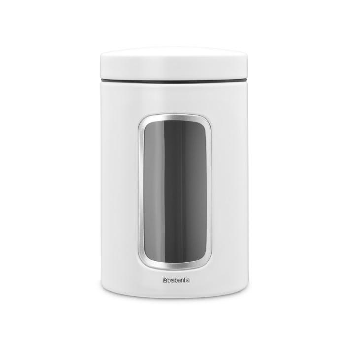Онлайн каталог PROMENU: Емкость с крышкой для хранения Brabantia Window canister, объем 1,4 л, белый Brabantia 306082