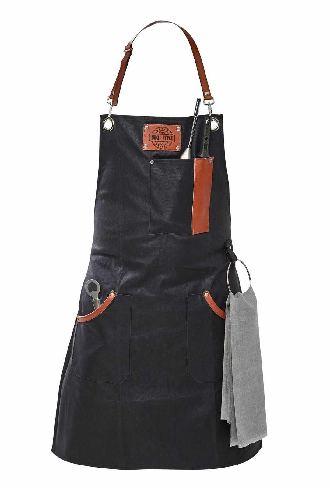 Онлайн каталог PROMENU: Фартук для барбекю с петлей для полотенца и держателем для термометра Gefu, черный                               89421