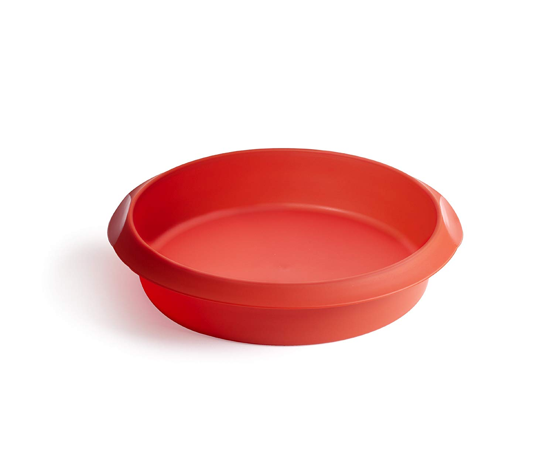 Онлайн каталог PROMENU: Форма для выпечки пирога силиконовая Lekue BAKING  MOULDS, диаметр 24 см, красный                               1210724R01M033