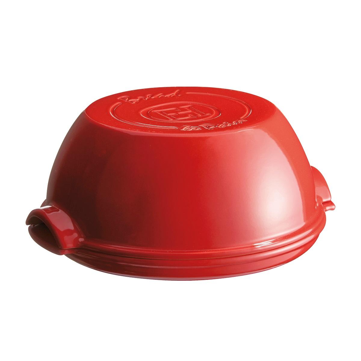 Онлайн каталог PROMENU: Форма для выпечки хлеба круглая с крышкой Emile Henry SPECIALIZED COOKING, керамика, 32,5x29,5x14 см, красный