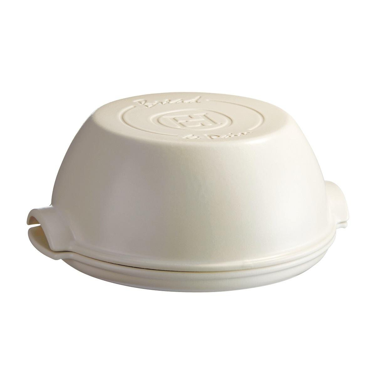 Онлайн каталог PROMENU: Форма для выпечки хлеба круглая с крышкой Emile Henry SPECIALIZED COOKING, керамика, 32,5x29,5x14 см, белый Emile Henry 505507