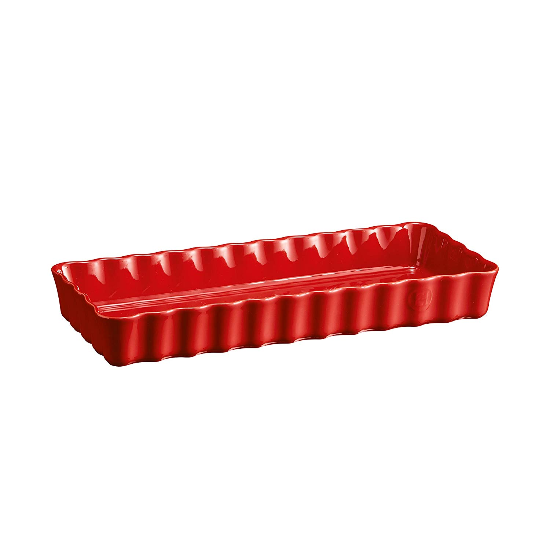 Онлайн каталог PROMENU: Форма для запекания керамическая Emile Henry OVENWARE, 15x36х5 см, красный                               346034