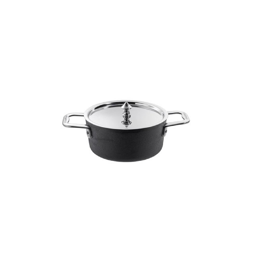 Онлайн каталог PROMENU: Кастрюля с крышкой порционная Scanpan MAITRE D, диаметр 14 см, объем 0,9 л, высота 6,7 см, черный Scanpan 97251400