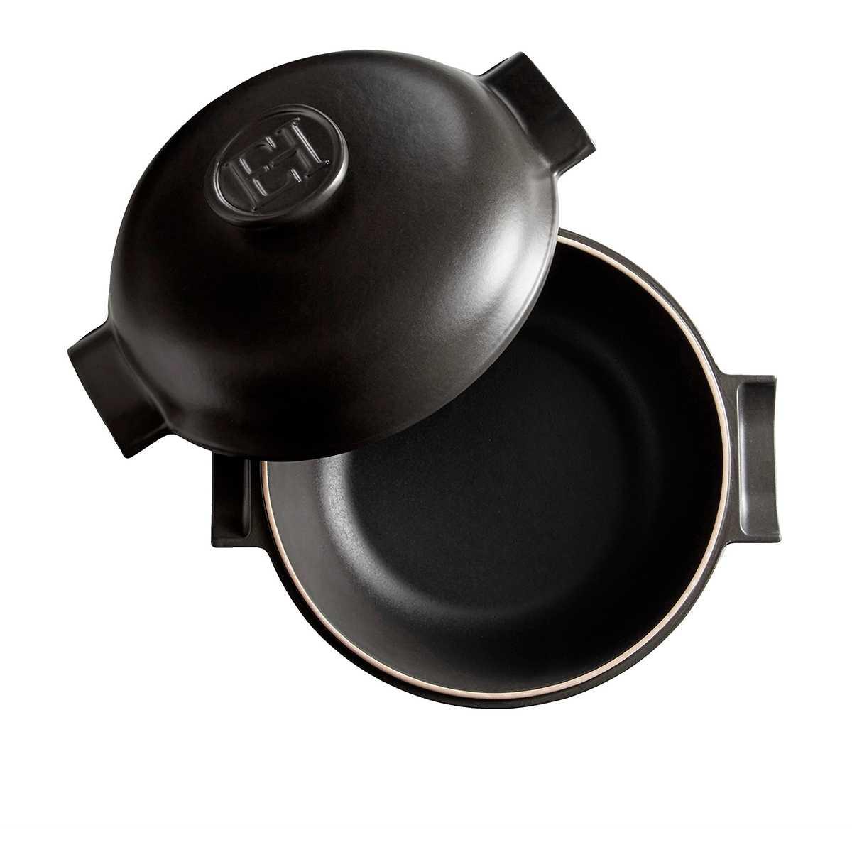 Кастрюля с крышкой керамическая индукционная Emile Henry DELIGHT, объем 4 л, черный Emile Henry 776640 фото 1