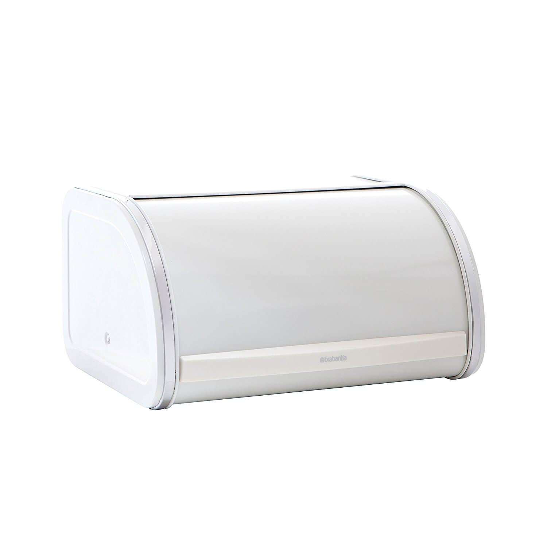 Онлайн каталог PROMENU: Хлебница со сдвигающейся крышкой Brabantia Roll, 31,6х26,5х17,3 см, белая                               349126