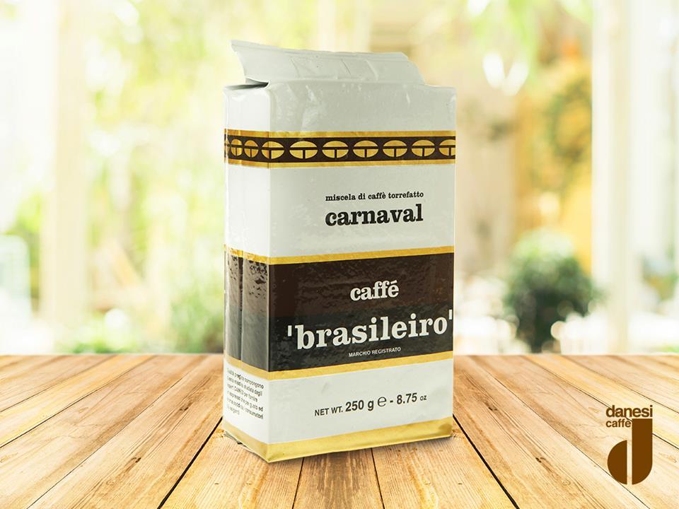 Кофе Brasileiro Carnaval Danesi, 0,25 кг, вакуумный пакет Danesi 2010340 фото 2