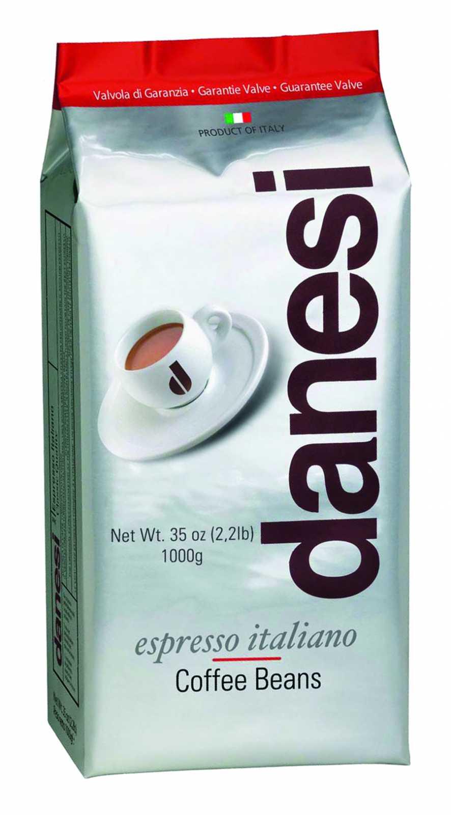Онлайн каталог PROMENU: Кофе Classic в зернах Danesi, 1 кг, вакуумный пакет с клапаном, красный                               1010150_New