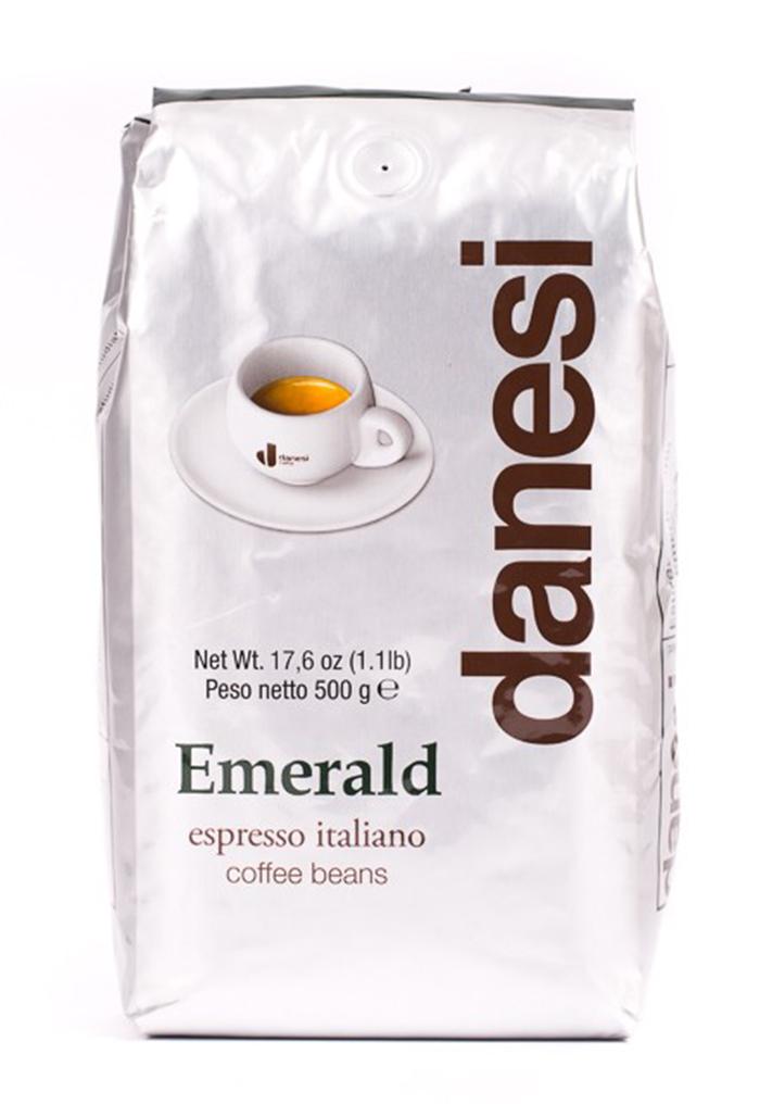 Онлайн каталог PROMENU: Кофе Emerald в зернах Danesi, 0,5 кг, пакет, серебристый Danesi 1010100_New
